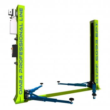 2-post lift electric 4,0t with floor plate (DTPF 6093 EP)
