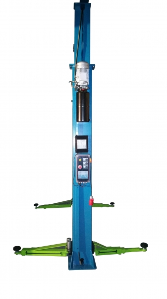 ProfiPaul 2-post lift electric 4,0t (DTPO 7093 E) blue-gree side